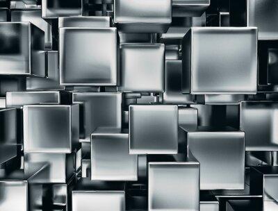 Obraz Abstrakcyjny obraz z metalu kostki tle