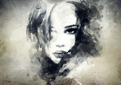 Obraz abstrakcyjny portret kobiety
