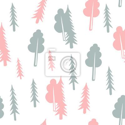 abstrakcyjny wydruk lasu