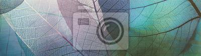 Obraz abstrakcyjny wzór z ozdobnych liści, dekoracyjne płytki ceramiczne