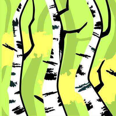 Obraz Abstrakt brzozy