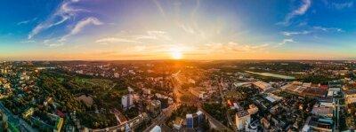 Obraz Aerial drone view of Chisinau, Moldova