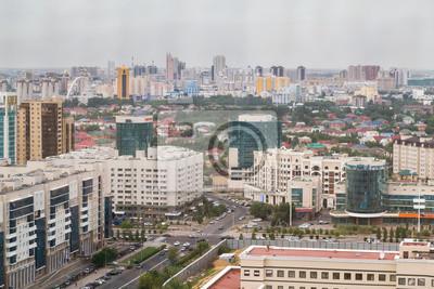 Aerial panorama Astana, Kazachstan