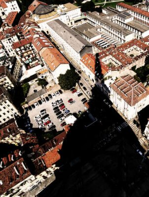 Obraz Aerial view from the famous monument called Mole Antonelliana and the huge shadow of the dome
