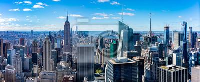 Obraz Aerial  view Manhattan  skyscrapers in  New York.