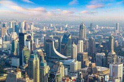 Obraz Aerial view of Bangkok in a summer morning