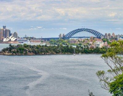 Aerial view of beautiful Sydney Harbour Bridge, Australia