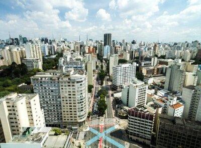 Obraz Aerial view of Consolacao Avenue Sao Paulo, Brazil
