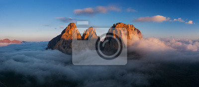 Obraz Aerial view of Grohmann spitze, Dolomites, Italy