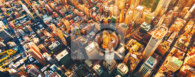 Obraz Aerial view of Manhattan New York from Midtown