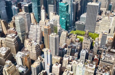 Obraz Aerial view of Manhattan on a sunny day, New York City, USA.