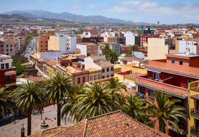 Aerial view of San Cristobal de La Laguna on a sunny day, Tenerife, Spain.