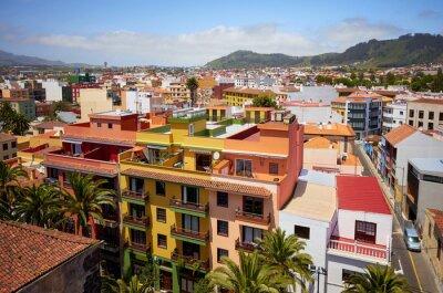 Aerial view of San Cristobal de La Laguna, Tenerife, Spain.