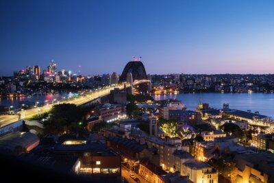 Aerial view of Sydney with Harbour Bridge, Australia
