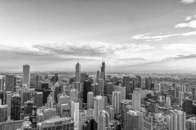 Obraz Aerial View of the Chicago skyline.