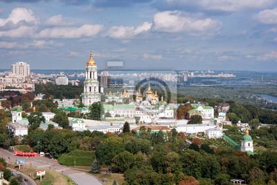 Aerial view of the Kiev-Pechersk Lavra in Kiev, Ukraine