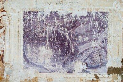 Obraz Affresco, sfondo con Trama di Muro antico