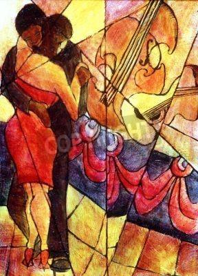 Obraz African American para tańczy zespół jazzowy.