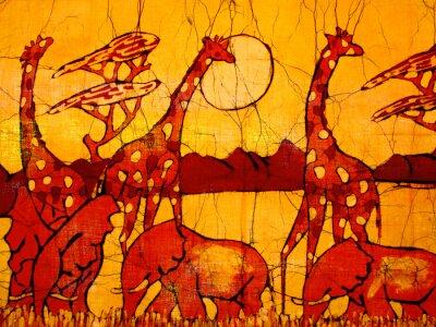 Obraz african art batik