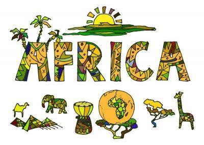 Obraz African ethnic symbols