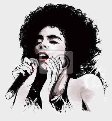 Obraz afro amerykański piosenkarz jazzowy