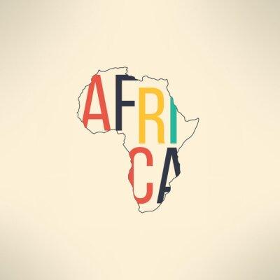 Obraz Afryka kontynentem konspektu z tekstem w środku. Infografika i