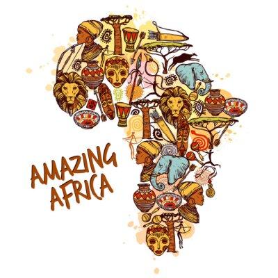 Obraz Afryka Szkic Praca
