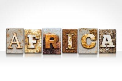 Obraz Afryka typograficznego koncepcja na białym