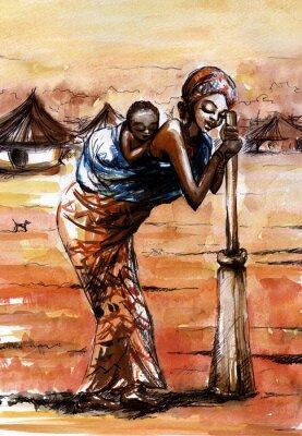 Obraz Afrykańska kobieta.