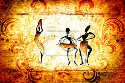 Obraz Afrykański motyw etniczny retro
