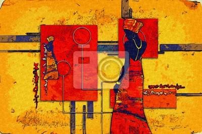 Afrykański motyw etniczny retro