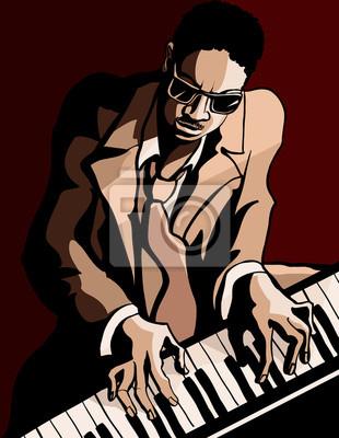 Obraz Afryki amerykański pianista jazzowy