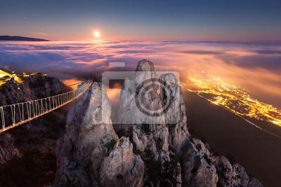 Ai-Petri. Night, Full Moon (Crimea)