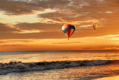 Obraz Air Balloon o zachodzie słońca