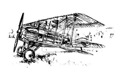 Obraz Air samolot rocznika 20s 30s 40s