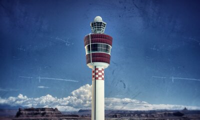 Obraz airport tower