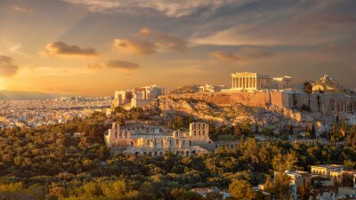 Obraz Akropolis of athens at sunset