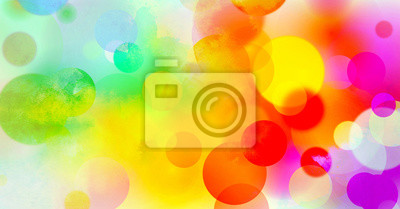 Obraz akwarela kolory tekstury gradient kolorowy