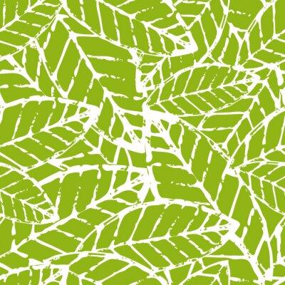 Obraz Akwarela ręcznie rysowane wektor liści szwu. Streszczenie gru
