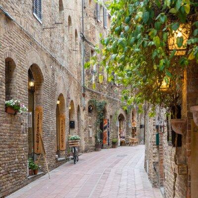 Obraz Aleja w Toskanii we Włoszech starego miasta