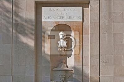 Alexander Fleming pomnik w Barcelonie, Hiszpania