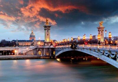 Obraz Alexandre 3 Bridge, Paryż, Francja
