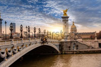 Obraz Alexandre III Bridge, Paryż Francja