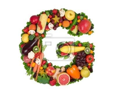 """Obraz alfabet zdrowia - """"g"""""""