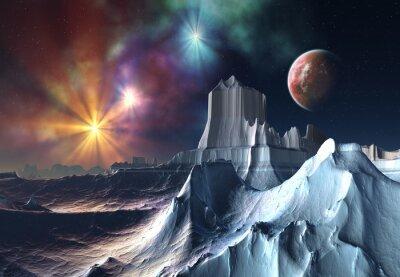 Obraz Alien Planet - 3D rendered computer artwork