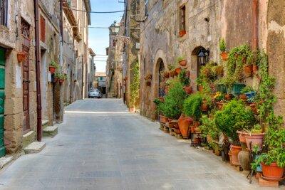 Obraz Alley stare miasto Toskania Włochy