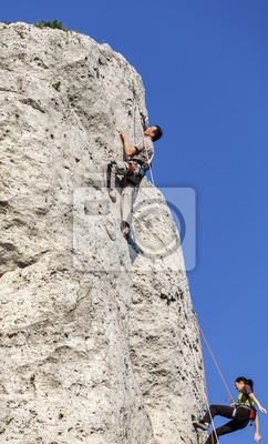 Alpinistów w akcji.