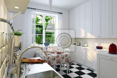 Altbaukuche Im Ikea Stil Skandinavian Kuchnia W Stylu Ikea Obrazy Redro