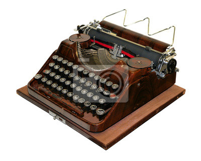 alte antike Schreibmaschine, vintage Maszyny do pisania