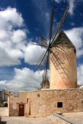 Obraz Alte Windmühlen w Palma de Mallorca